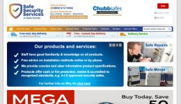 Chubb safes ecommerce site