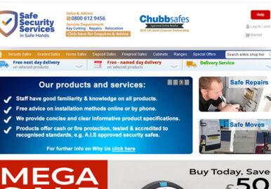 Chubb safes ecommerce site